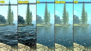 The Elder Scrolls Skyrim Pc Vs PS4 Vs Xbox One Vs PS3 Vs Xbox 360 Graphics Comparison