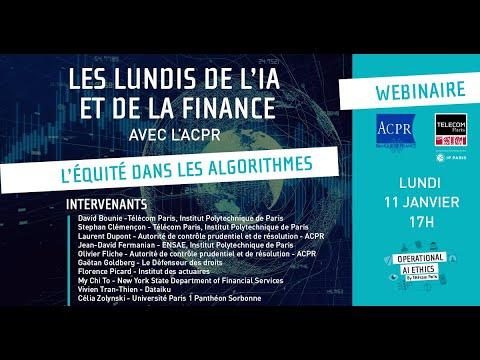 L'équité dans les algorithmes - Les lundis de l'IA et de la finance #2