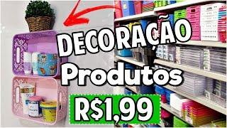 DIY: DECORAÇÃO COM PRODUTOS DE LOJAS DE R$1,99
