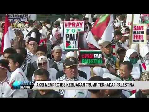Aksi Protes Kebijakan Trump Terhadap Palestina di Jakarta