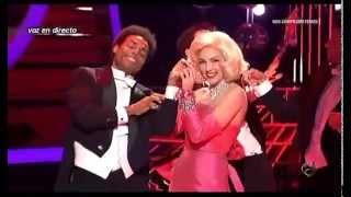 Anna Simon como Marilyn y morreo de Llácer a Roko