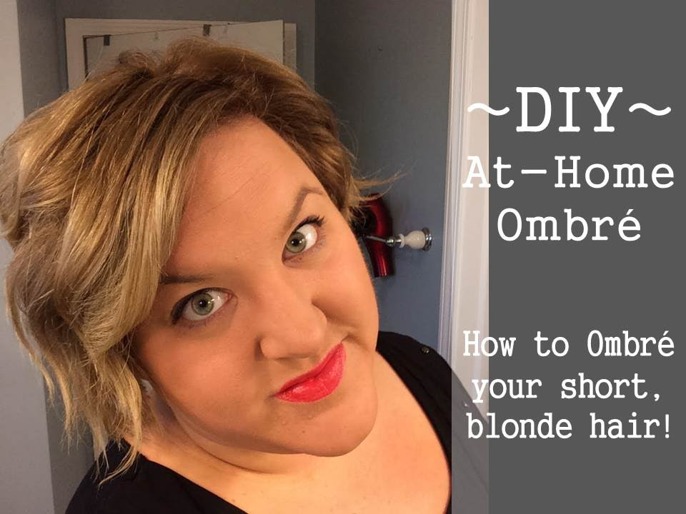 how to style short hair at home diy at home ombre on hair girlwithmoxieblog 7970 | maxresdefault