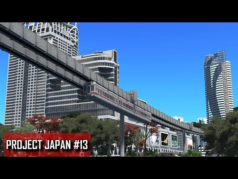 Cities: Skylines - PROJECT JAPAN #13 - Suspended monorail, Convention center, Mixed residential