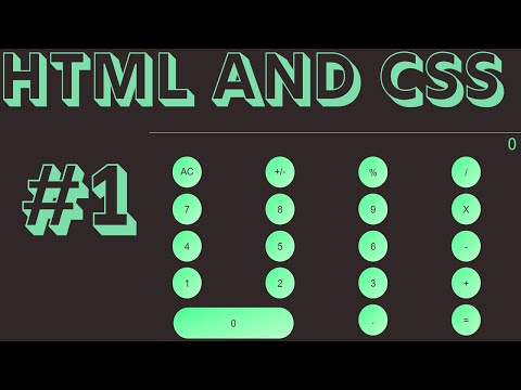 Building a calculator from scratch #1 | HTML CSS JAVASCRIPT PROJECT | I'M A BEGINNER thumbnail