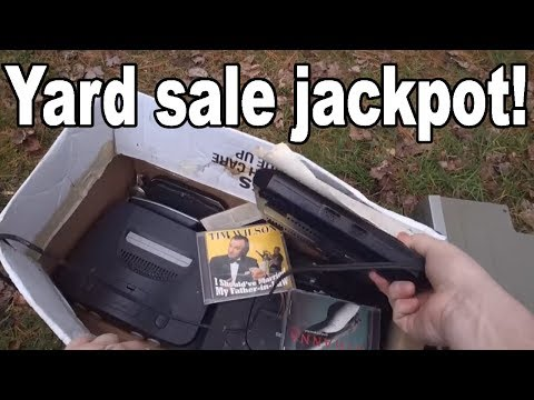 Live Flea Market/Yard Sales Video Game Hunting! Ep. 35 - Yard Sale Jackpot! - Pickups!
