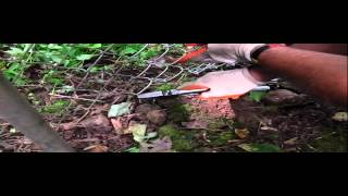 Chain Link Fence Repair - Weaving In Fence Pickets - Stretching Chain Link Fence