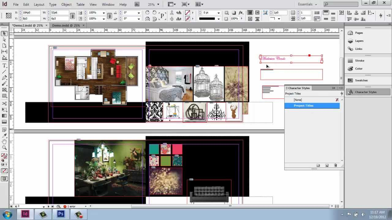 Adobe Indesign Cs6 Interior Design Portfolio Part 8 Character Styles Brooke Godfrey