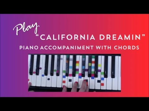 How to Play Sing California Dreaming - Mama's & Papa's | Easy Piano Chord Lesson | IVOREEZ