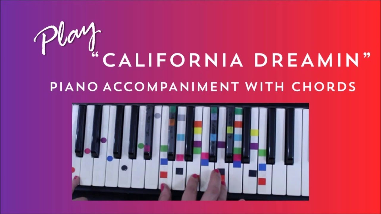 How to play sing california dreaming mamas papas easy how to play sing california dreaming mamas papas easy piano chord lesson ivoreez youtube hexwebz Image collections