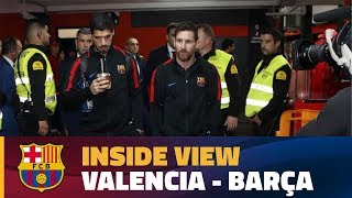 [BEHIND THE SCENES] Barça's day in Valencia