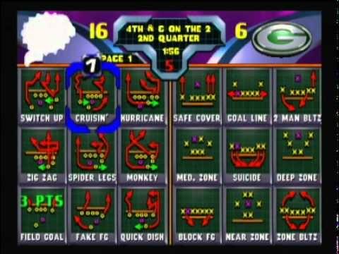 NFL Blitz 2000 - Dolphins vs Packers (1st Half)