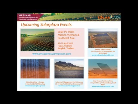 Webinar: Emerging Opportunities in the Vietnamese Solar PV Market