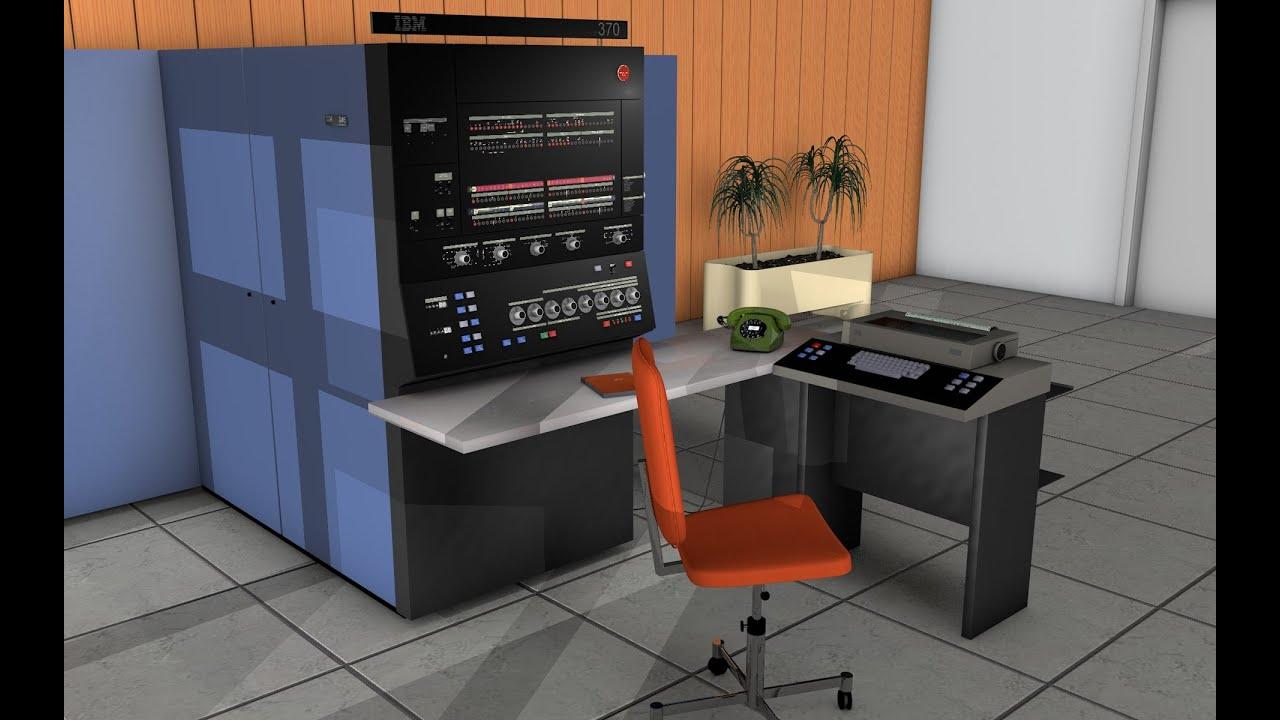 Ibm System 370 Rechenzentrum 1974 Youtube