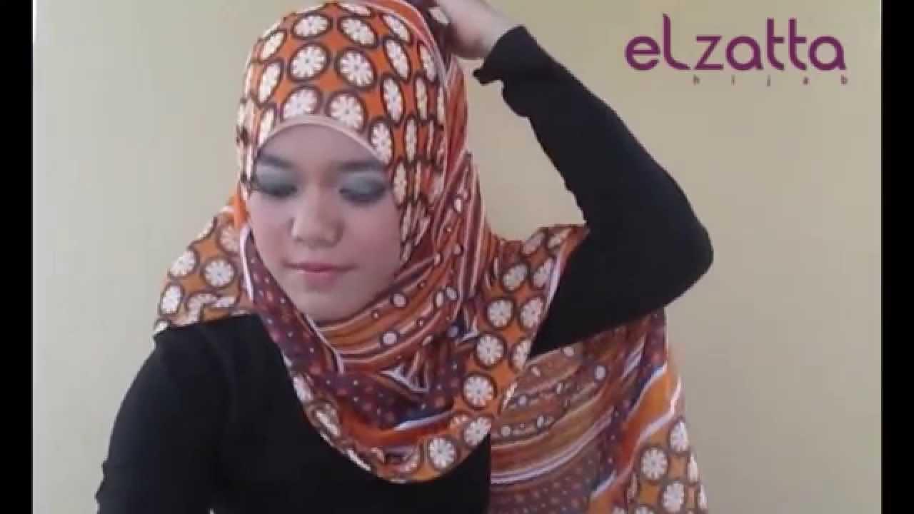 Tutorial Hijab By Elzatta December 2013 Style2 Youtube