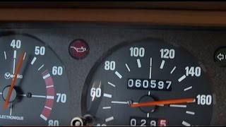 Peugeot 604  V6 - driving scenes up to 180 km/h