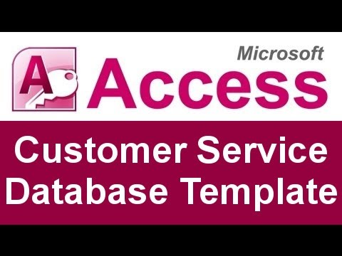 microsoft access customer service database template youtube