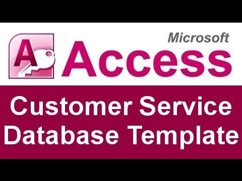 Microsoft Access Customer Service Database Template - YouTube
