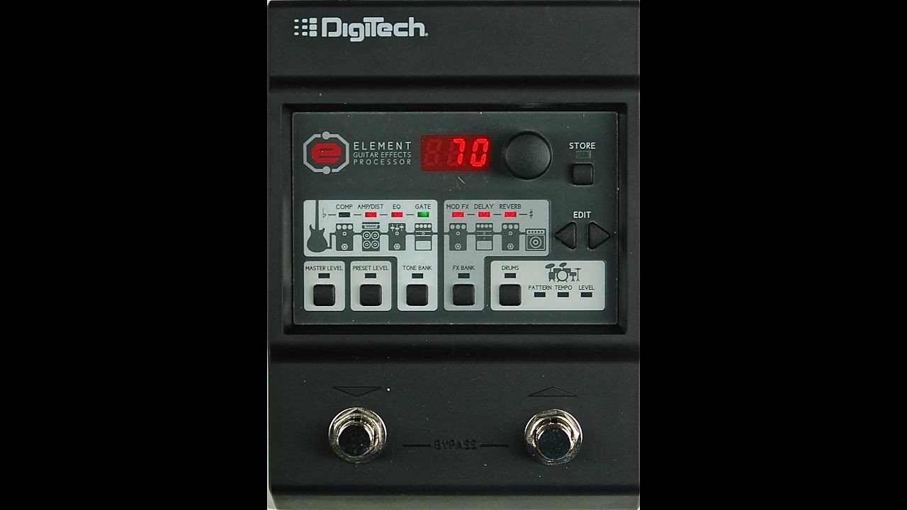 digitech element guitar effects processor youtube. Black Bedroom Furniture Sets. Home Design Ideas