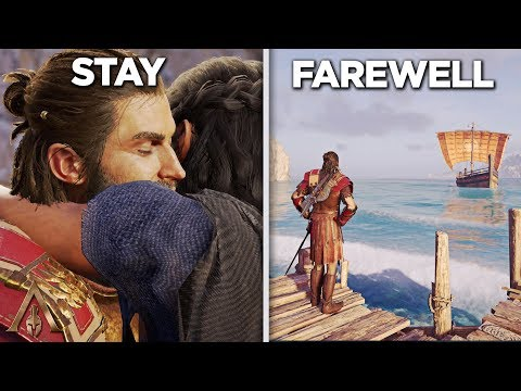 Stay vs Farewell (ALL ENDINGS) Episode 2 - Assassin's Creed Odyssey thumbnail