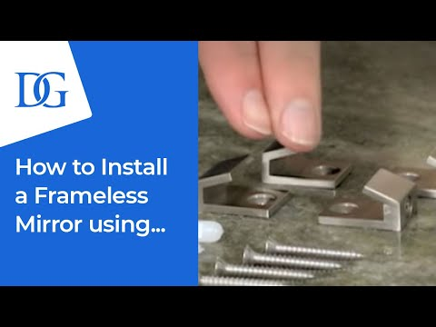 How To Install A Rectangle Mirror With Clips Dulles Glass Mirror
