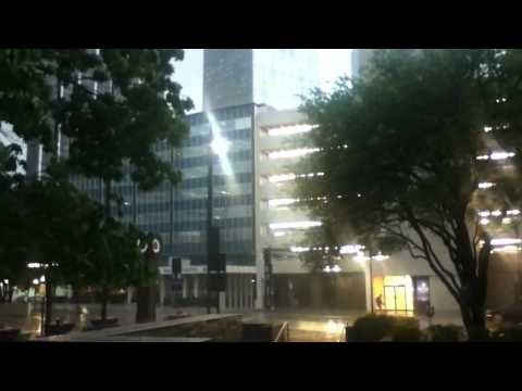 Downtown Dallas Bad Weather -- Tornadoes in DFW 04.03.12