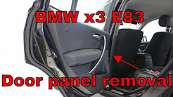 BMW X3 Door panel removal