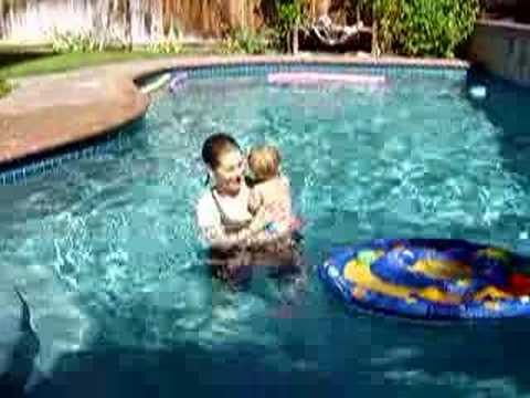 "Saul ""Tarzan"" Swimming with Mom"