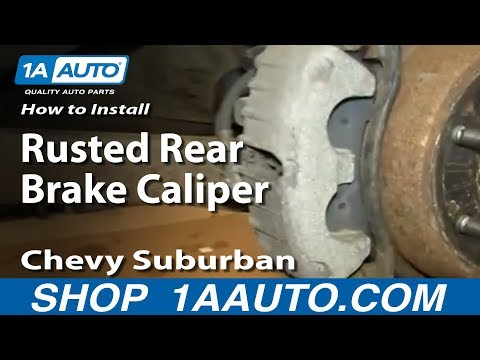 How to Replace Rear Brake Caliper 00-06 Chevy Suburban - YouTube