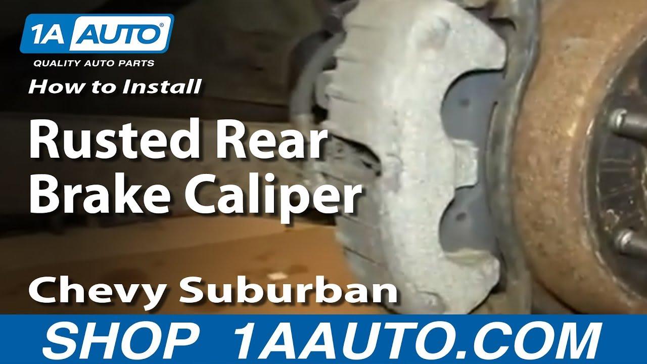 Brake Caliper Bracket >> How to Replace Rear Brake Caliper 00-06 Chevy Suburban ...