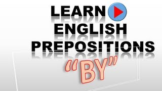 English Preposition #8   BY