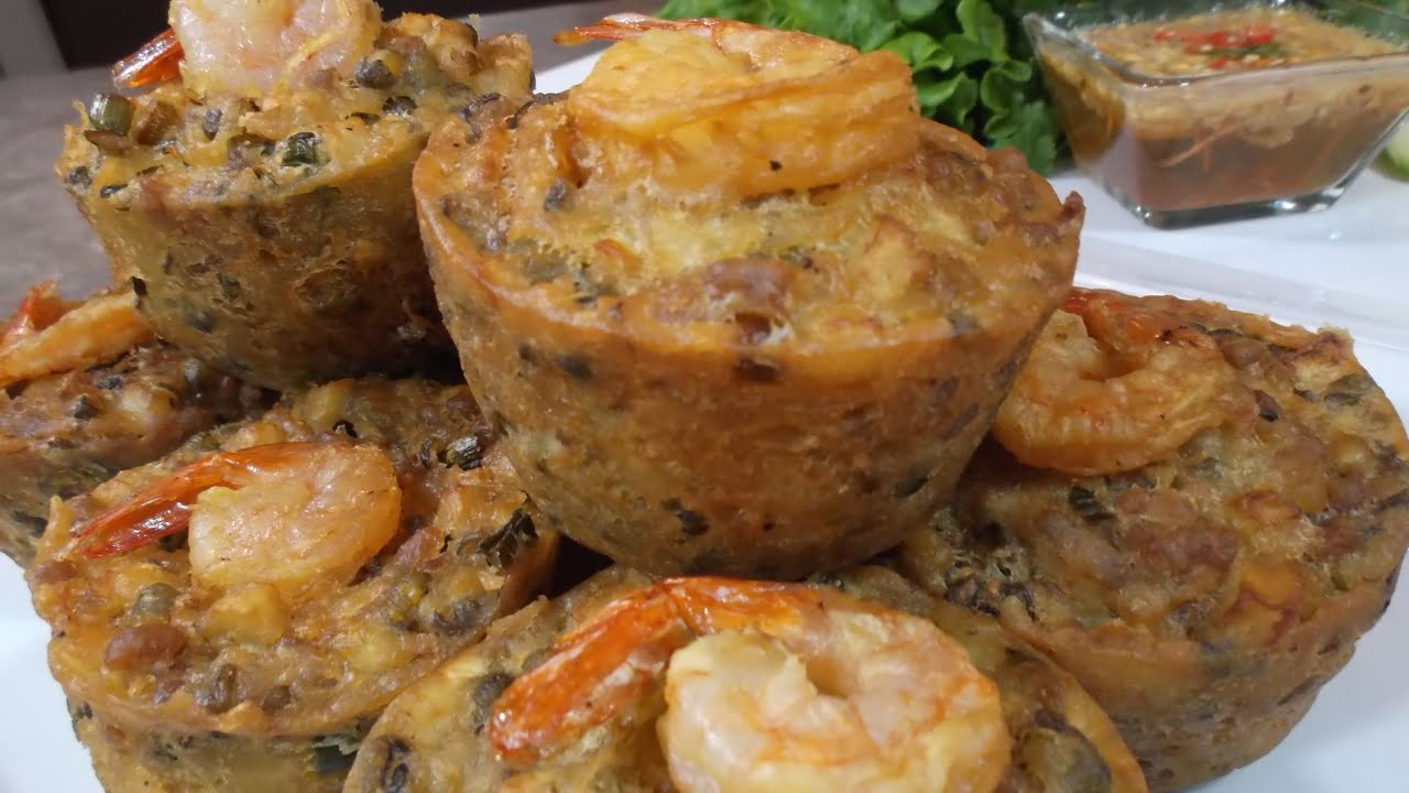 Cambodian Fried Cake With Shrimp And Mung Bean Recipe