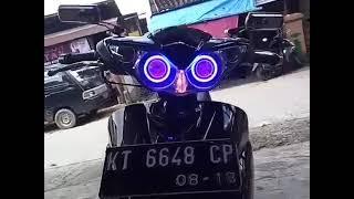 Sumber Cahaya LED Samarinda custom Angel Eye yamaha Jupiter Z Burhan