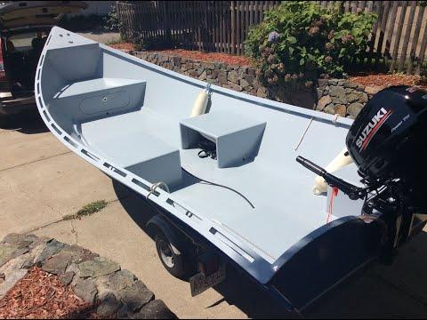 Building Plywood Epoxy Fiberglass Fishing Boat Skiff