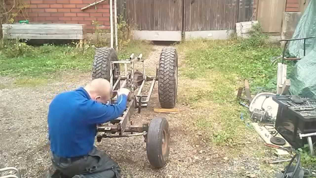 Home Made Tractor Clutch : My homemade garden tractor part taking it apart doovi