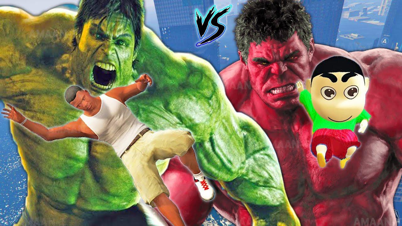 Download GTA 5 : RED HULK & GREEN HULK Playing HIDE and SEEK in GTA 5 | PART-5 | AMAAN-T GTA V MODS