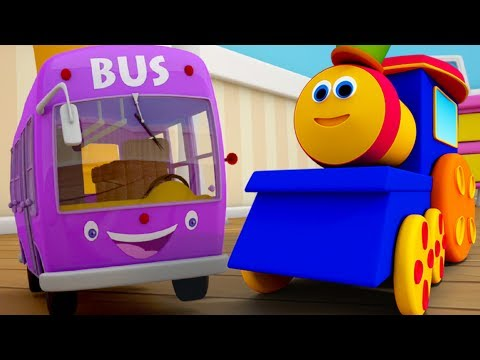Wheels On The Bus Go Round And Round | Nursery Rhymes | Children Rhymes Song by Bob The Train
