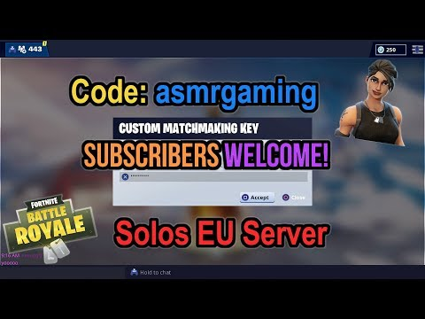 Fortnite Custom Matchmaking Subscriber Lobby Stream! Come Join! Code: asmrgaming [Eng] (PS4) thumbnail