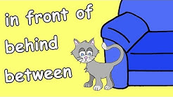 In Front Of, Behind, Between | Prepositions Song for Kids