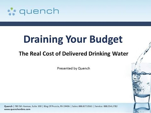 Draining Your Budget:The Real Cost of Delivered Drinking Water