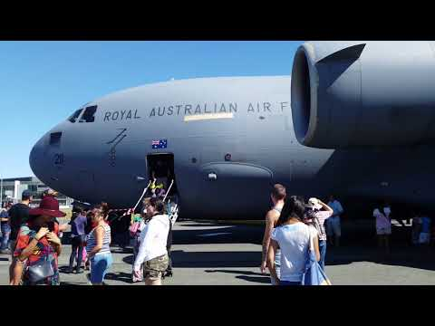 RAAF C-17 close up at Canberra Airport Open Day
