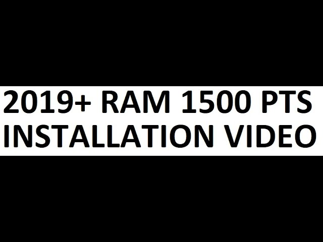 Start-X 2019+ Ram 1500 PTS Remote Starter Install