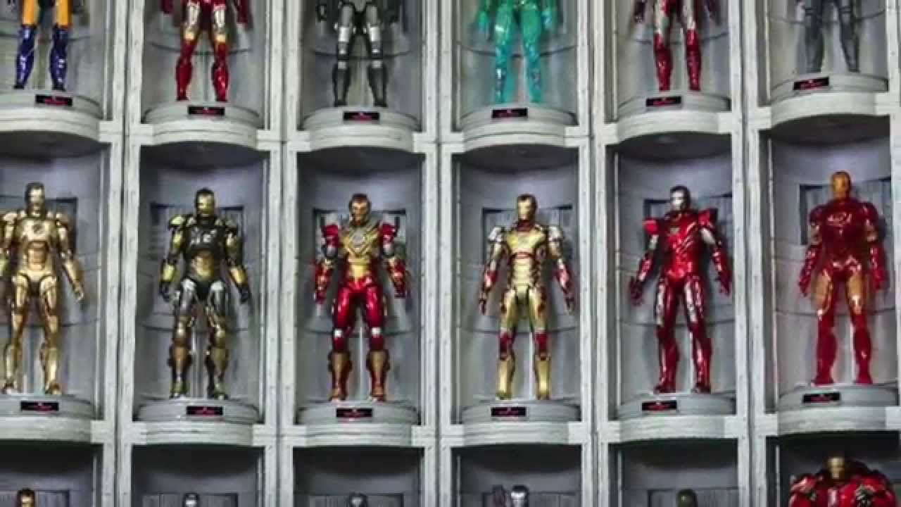 Iron Man 3 Hall Of Armor Hot Toys
