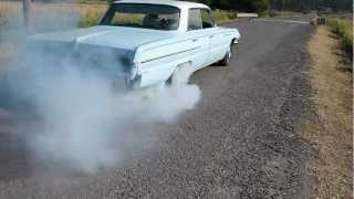 Burning the tires off in a 1962 Buick LeSabre with a 401 V-8. Burnout