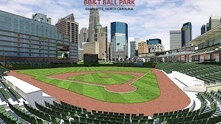 Charlotte Knights AAA Minor League Baseball Team at the new BB&T Ballpark in uptown Charlotte