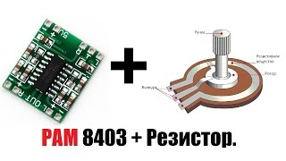 делаем регулятор громкости для PAM 8403