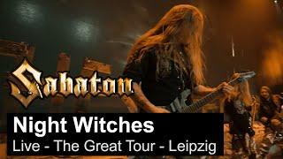 SABATON - Night Witches (Live - The Great Tour - Leipzig)