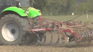 Bodenbearbeitung 2014 mit Deutz Fahr Agrotron X 710 oder 720