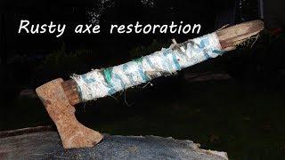 Rusty axe restoration. Відновлюю ржаву сокиру.