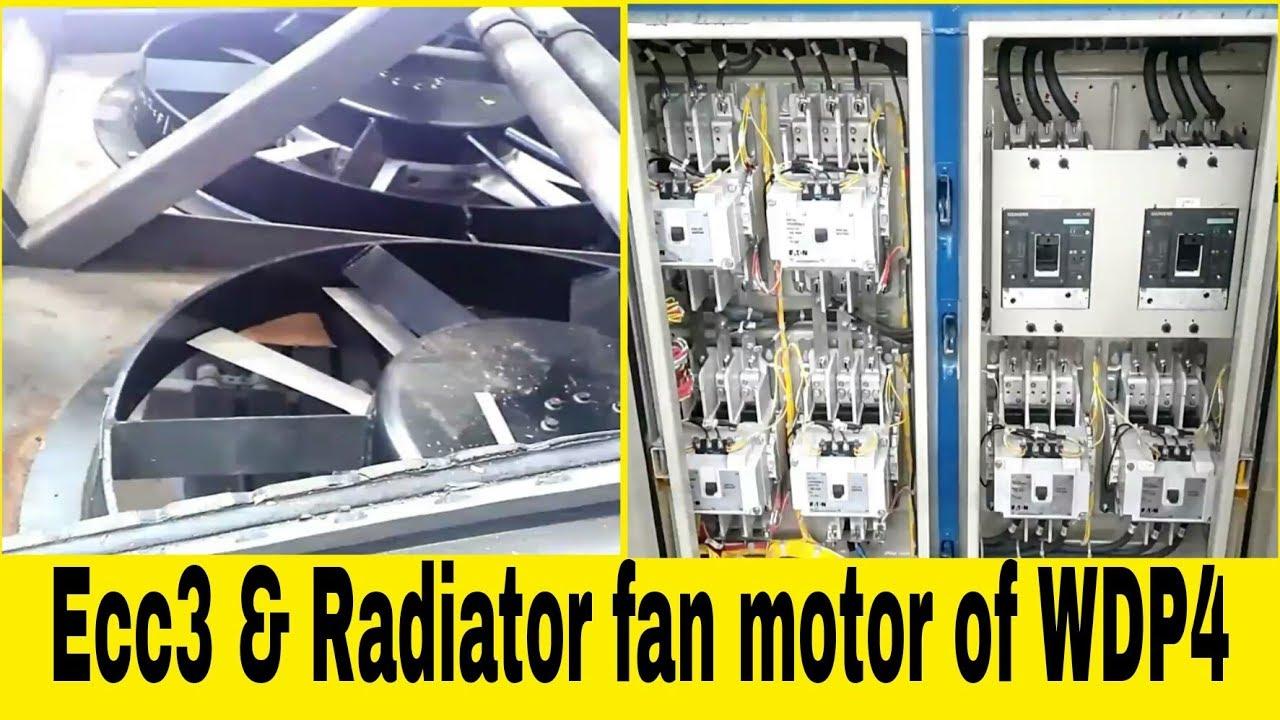 ECC3  and radiator fan motor of  Wdp4  Emd  train engine  locomotive ...