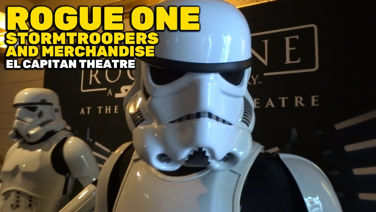 Stormtroopers meet and greet and rogue one merchandise at el stormtroopers meet and greet and rogue one merchandise at el capitan theatre in hollywood youtube kristyandbryce Gallery